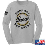 MAC Shop Local Long Sleeve T-Shirt Long Sleeve Small / Light Grey by Ballistic Ink - Made in America USA