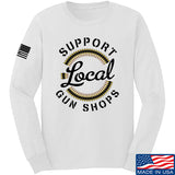 MAC Shop Local Long Sleeve T-Shirt Long Sleeve Small / White by Ballistic Ink - Made in America USA