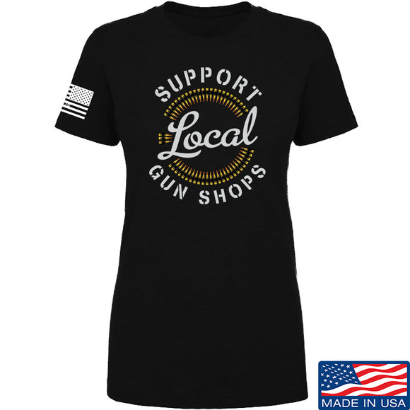 MAC Ladies Shop Local T-Shirt T-Shirts SMALL / Black by Ballistic Ink - Made in America USA