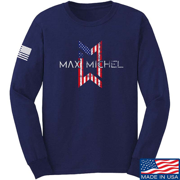Max Michel USA Flag Logo Long Sleeve T-Shirt