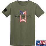 Max Michel USA Flag Logo T-Shirt