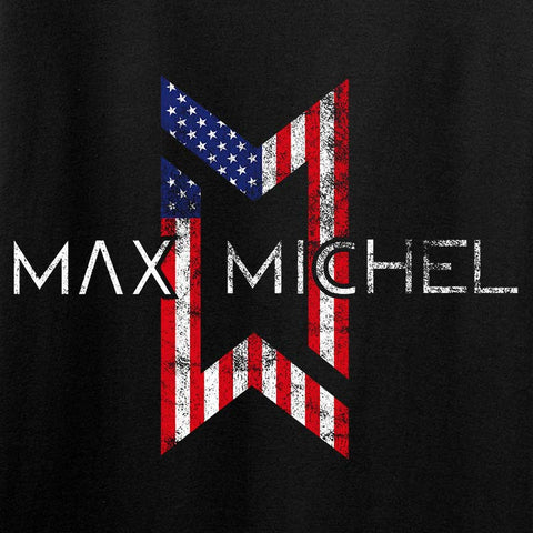 Ladies Max Michel USA Flag Logo T-Shirt