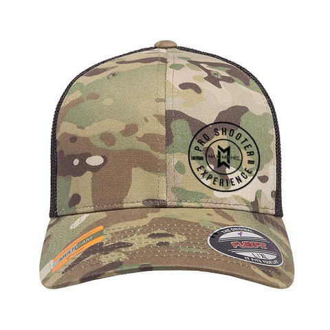 Max Michel Pro Shooter 2020 Circle Logo Flexfit® Multicam® Trucker Mesh Cap