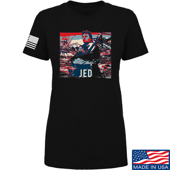 Men of Arms Apparel Ladies Jed T-Shirt T-Shirts SMALL / Black by Ballistic Ink - Made in America USA