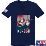 Men of Arms Apparel Ladies Kersey V-Neck T-Shirts, V-Neck SMALL / Navy by Ballistic Ink - Made in America USA