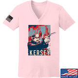 Men of Arms Apparel Ladies Kersey V-Neck T-Shirts, V-Neck SMALL / Light Pink by Ballistic Ink - Made in America USA