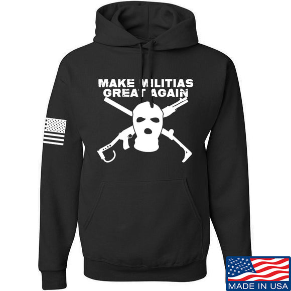 Men of Arms Apparel Make Militias Great Again Hoodie Hoodies Small / Black by Ballistic Ink - Made in America USA