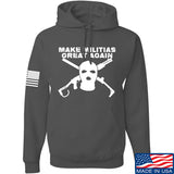 Men of Arms Apparel Make Militias Great Again Hoodie Hoodies Small / Charcoal by Ballistic Ink - Made in America USA