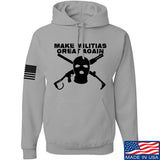 Men of Arms Apparel Make Militias Great Again Hoodie Hoodies Small / Light Grey by Ballistic Ink - Made in America USA
