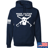 Men of Arms Apparel Make Militias Great Again Hoodie Hoodies Small / Navy by Ballistic Ink - Made in America USA