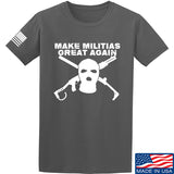 Men of Arms Apparel Make Militias Great Again T-Shirt T-Shirts Small / Charcoal by Ballistic Ink - Made in America USA