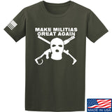 Men of Arms Apparel Make Militias Great Again T-Shirt T-Shirts Small / Military Green by Ballistic Ink - Made in America USA