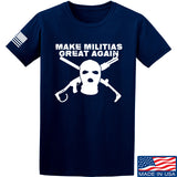 Men of Arms Apparel Make Militias Great Again T-Shirt T-Shirts Small / Navy by Ballistic Ink - Made in America USA