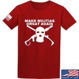 Men of Arms Apparel Make Militias Great Again T-Shirt T-Shirts Small / Red by Ballistic Ink - Made in America USA