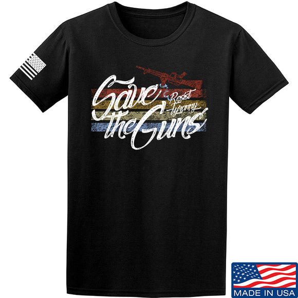 Men of Arms Apparel Save The Guns T-Shirt T-Shirts Small / Black by Ballistic Ink - Made in America USA