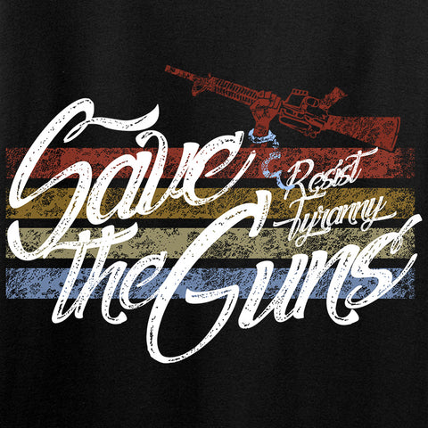 Men of Arms Apparel Save The Guns T-Shirt T-Shirts [variant_title] by Ballistic Ink - Made in America USA
