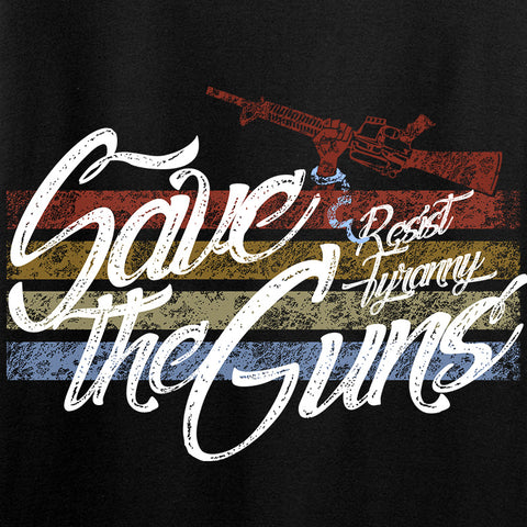 Men of Arms Apparel Ladies Save The Guns V-Neck T-Shirts, V-Neck [variant_title] by Ballistic Ink - Made in America USA