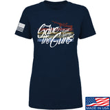 Men of Arms Apparel Ladies Save The Guns T-Shirt T-Shirts SMALL / Navy by Ballistic Ink - Made in America USA