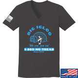 Men of Arms Apparel Ladies The Big Igloo V-Neck T-Shirts, V-Neck SMALL / Charcoal by Ballistic Ink - Made in America USA