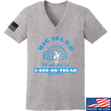 Men of Arms Apparel Ladies The Big Igloo V-Neck T-Shirts, V-Neck SMALL / Light Grey by Ballistic Ink - Made in America USA