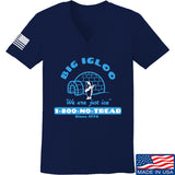 Men of Arms Apparel Ladies The Big Igloo V-Neck T-Shirts, V-Neck SMALL / Navy by Ballistic Ink - Made in America USA