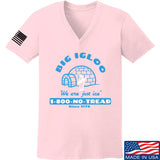 Men of Arms Apparel Ladies The Big Igloo V-Neck T-Shirts, V-Neck SMALL / Light Pink by Ballistic Ink - Made in America USA
