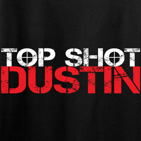Ladies Top Shot Dustin Chest Logo T-Shirt