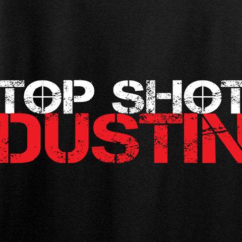Ladies Top Shot Dustin Full Logo T-Shirt