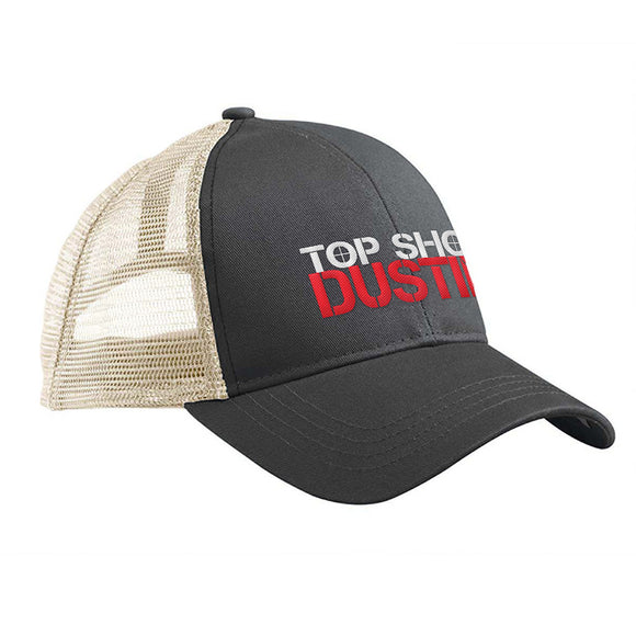 Top Shot Dustin Logo Trucker Snapback Cap