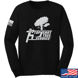 Top Shot Tree Service Long Sleeve T-Shirt