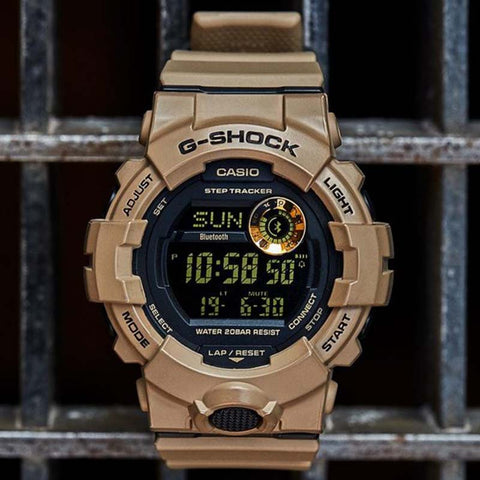 Casio G-Shock Power Trainer Watch — GBD800UC-5 — Tan