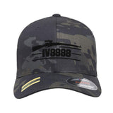 IV8888 IV8888 Logo Flexfit® Multicam® Trucker Cap Headwear Black Multicam S/M by Ballistic Ink - Made in America USA