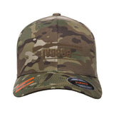 IV8888 IV8888 Logo Flexfit® Multicam® Trucker Cap Headwear Multicam S/M by Ballistic Ink - Made in America USA