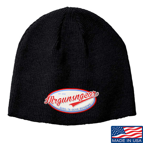 Mrgunsngear Mrgunsngear Logo Beanie Headwear Black by Ballistic Ink - Made in America USA