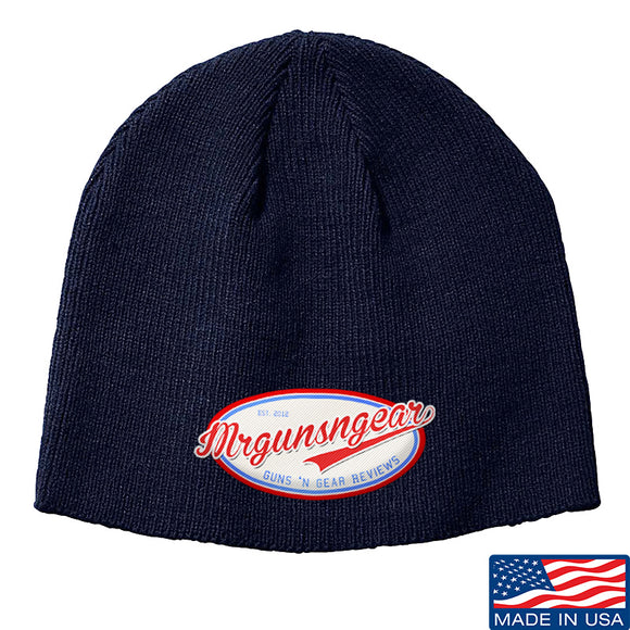Mrgunsngear Mrgunsngear Logo Beanie Headwear Navy by Ballistic Ink - Made in America USA