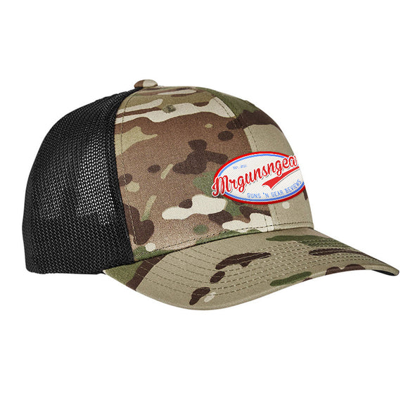 Mrgunsngear Mrgunsngear Logo Flexfit® Multicam® Trucker Mesh Cap Headwear [variant_title] by Ballistic Ink - Made in America USA