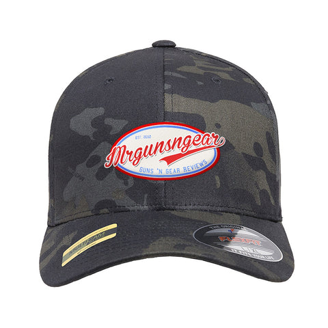 Mrgunsngear Mrgunsngear Logo Flexfit® Multicam® Trucker Cap Headwear Black Multicam S/M by Ballistic Ink - Made in America USA