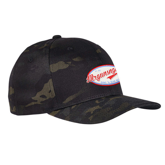 Mrgunsngear Mrgunsngear Logo Flexfit® Multicam® Trucker Cap Headwear [variant_title] by Ballistic Ink - Made in America USA