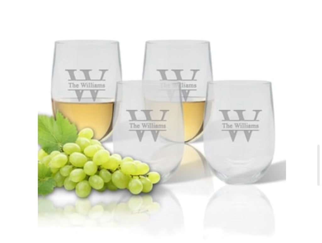 Personalized Unbreakable Stemless Wine Glass