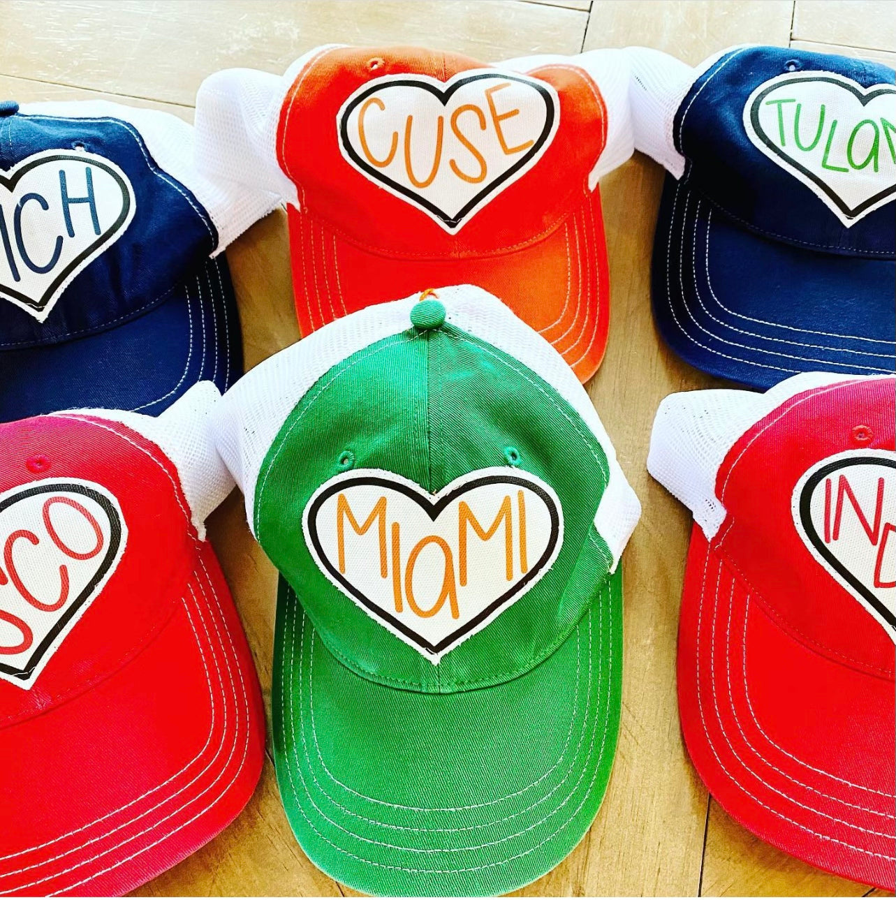 College Heart Baseball Cap