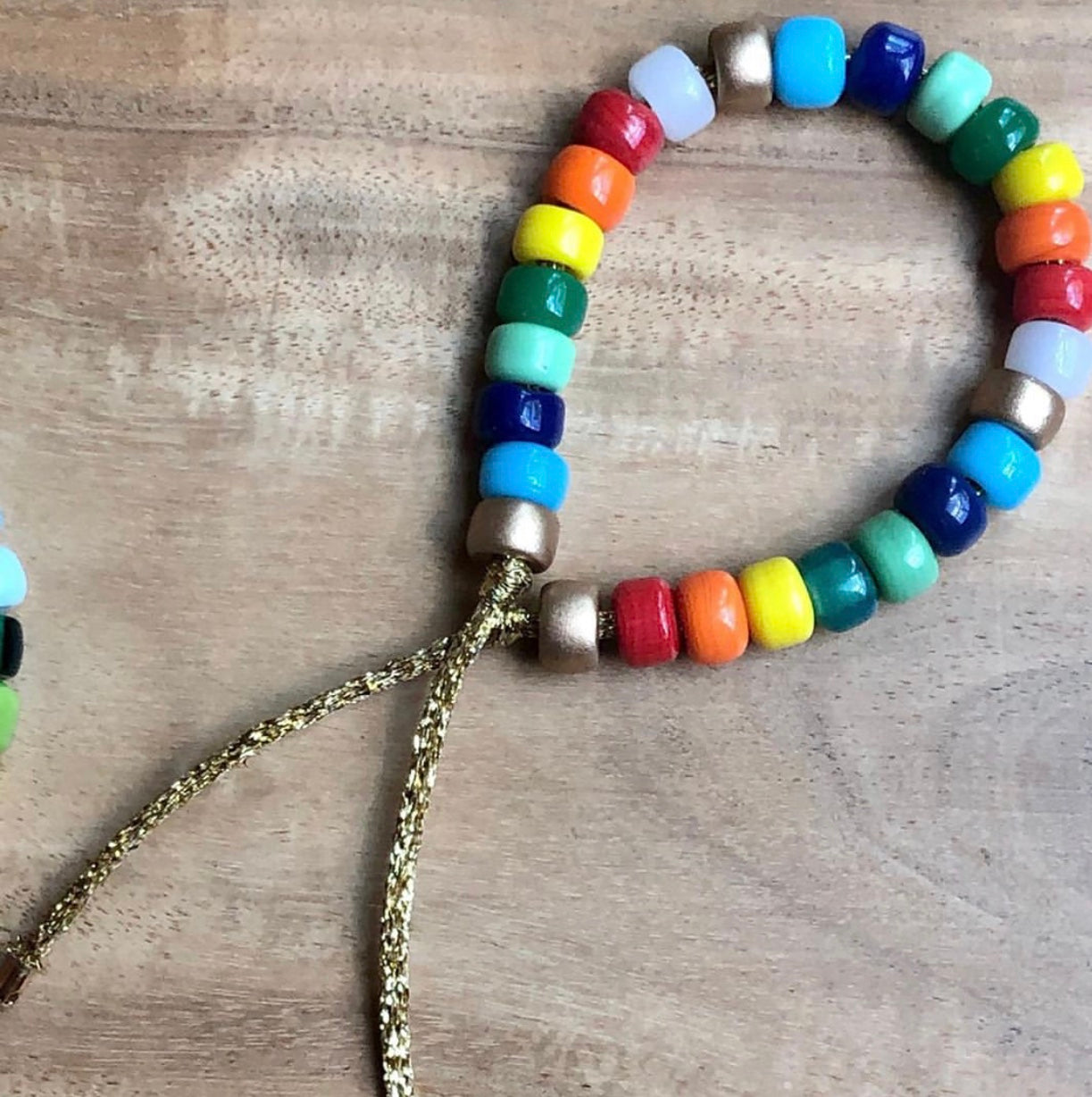 Rainbow Glass Bracelet (No Personalization)