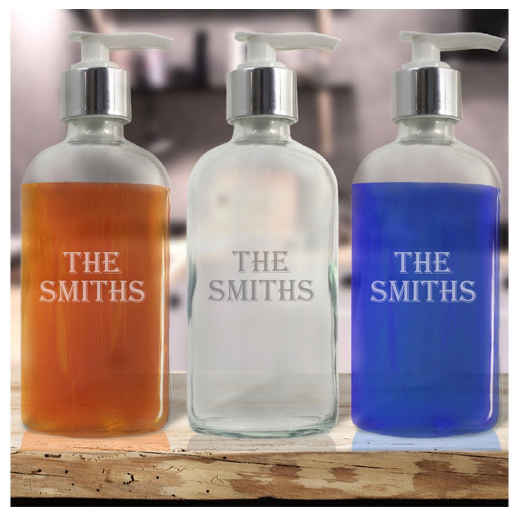 Personalized Glass Soap Dispenser