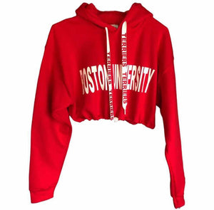 College Cropped Hoody