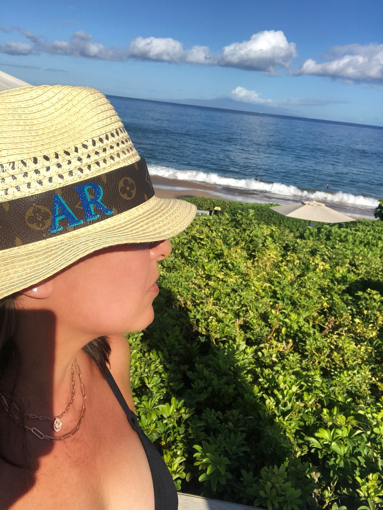 Handpainted Monogrammed Repurposed Fedora