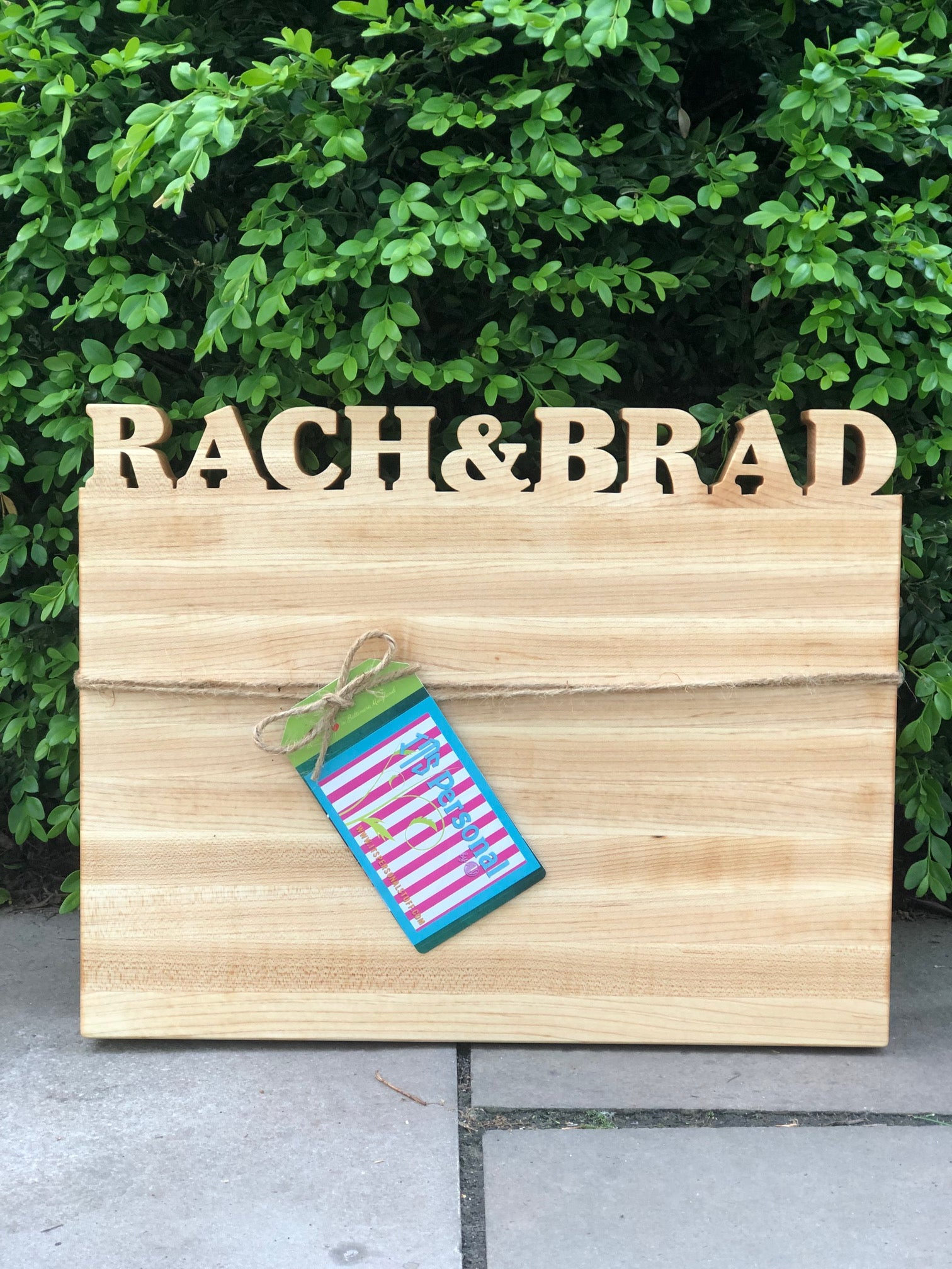 Large Personalized Cutting Board