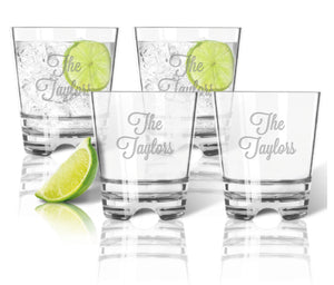 Personalized Unbreakable Tumbler Whiskey Glass Set of 4