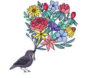 Blackbird and Blooms