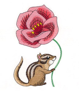 Cheerful Chipmunk with Poppy