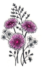 Delicate Daisy Etching
