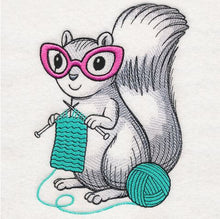 Load image into Gallery viewer, Knitting Squirrel